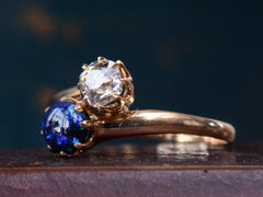 1900s Opal & Diamond Crossover Ring