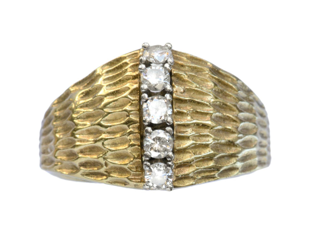 1970s Diamond Ridge Ring