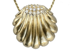 1950s Diamond Shell Pendant