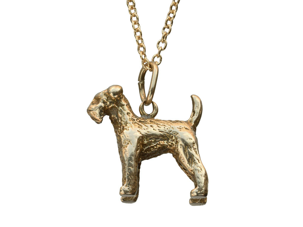 c1950 Gold Airedale Charm