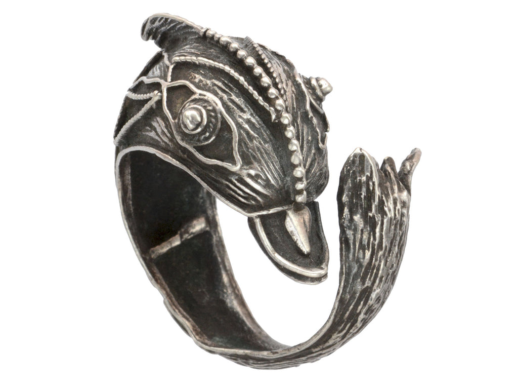 1950s Silver Dolphin Ring
