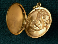 1890s Gold Dragon Locket