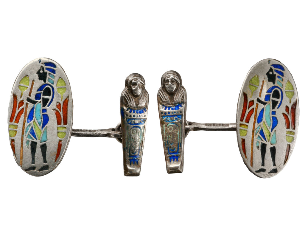 1925 Egyptian Enamel Cufflinks