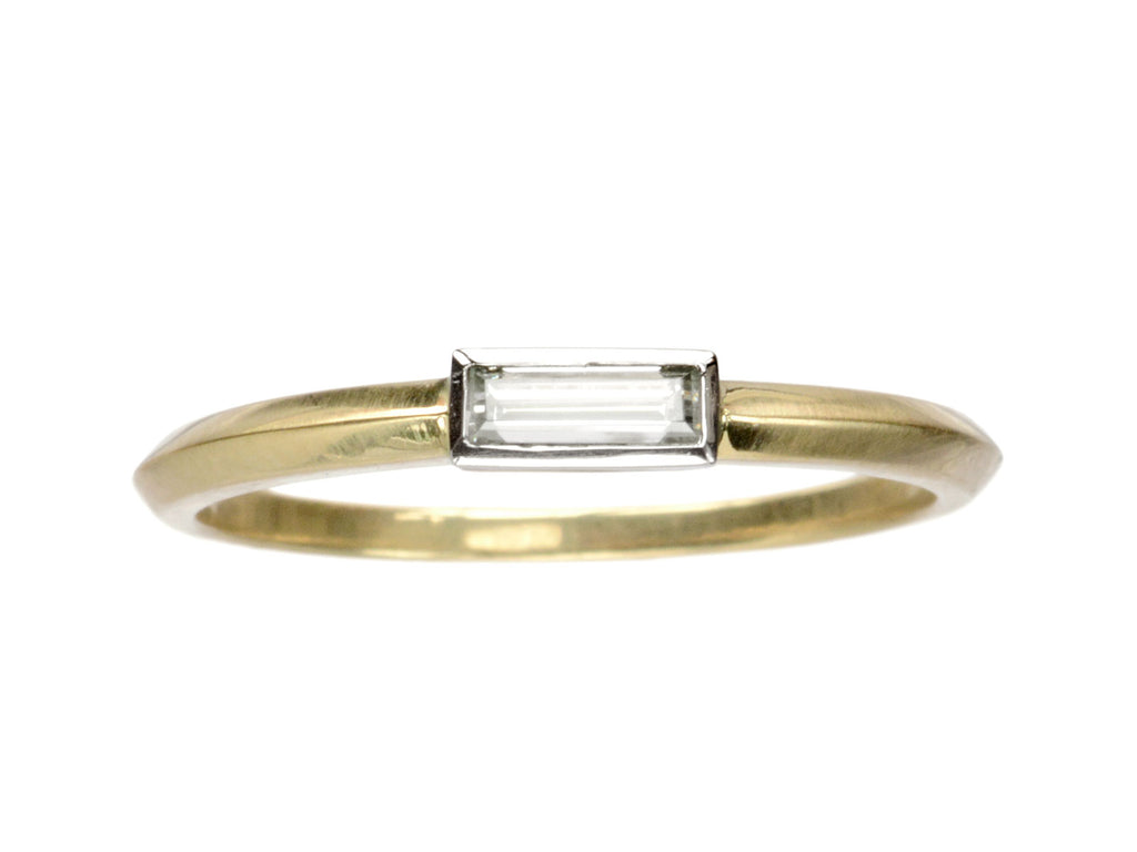 EB 0.16ct Rectangular Diamond Ring