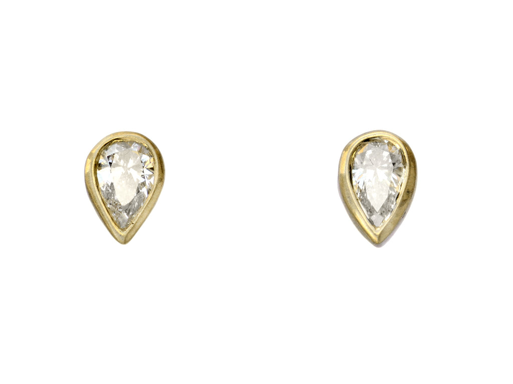 EB 0.20ctw Pear Diamond Studs