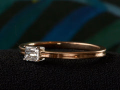 EB East-West 0.25ct Emerald Cut Diamond Engagement Ring