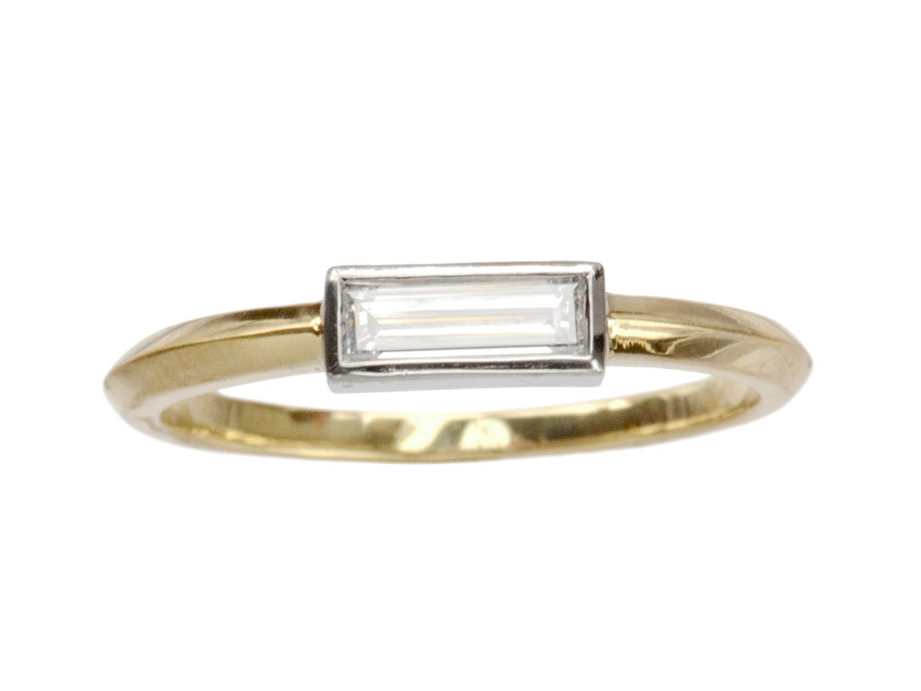 EB 0.28ct Rectangular Diamond Ring