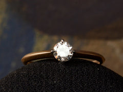 EB 0.32ct Old Cut Diamond Engagement Ring