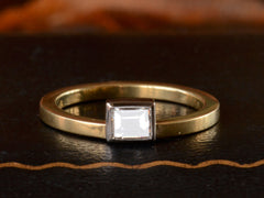 EB 0.33ct Rectangular Step Cut Diamond Ring