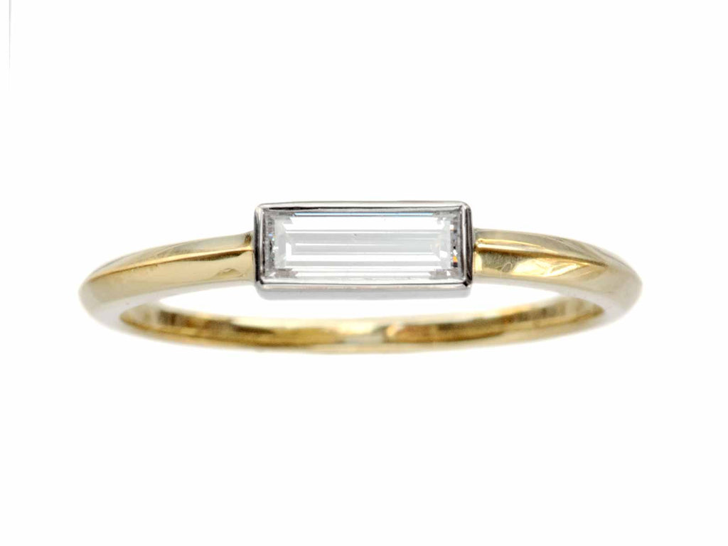 EB 0.33ct Rectangular Diamond Ring