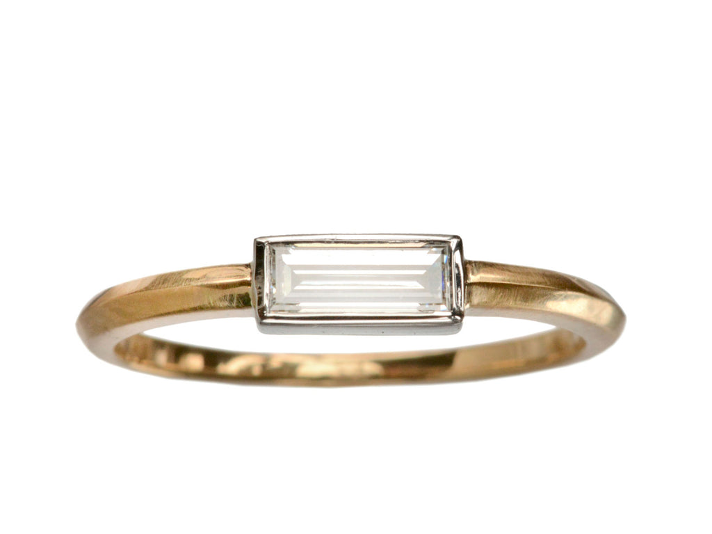 EB 0.35ct Rectangular Diamond Baguette Ring
