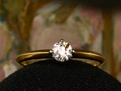 EB 0.35ct Old European Cut Diamond Engagement Ring