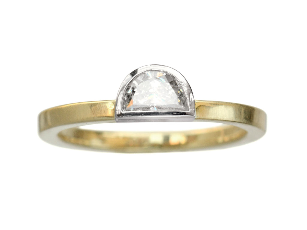 EB 0.37ct Half Moon Diamond Ring