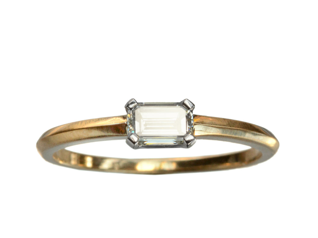 EB 0.40ct Emerald Cut Diamond Engagement Ring