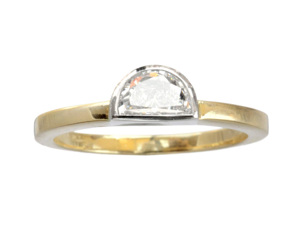 EB 0.41ct Half Moon Ring