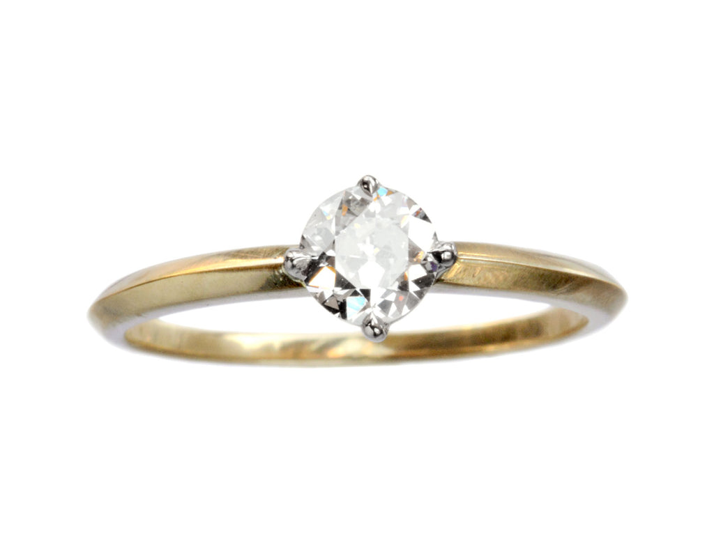 EB 0.43ct Old Cut Diamond Engagement Ring