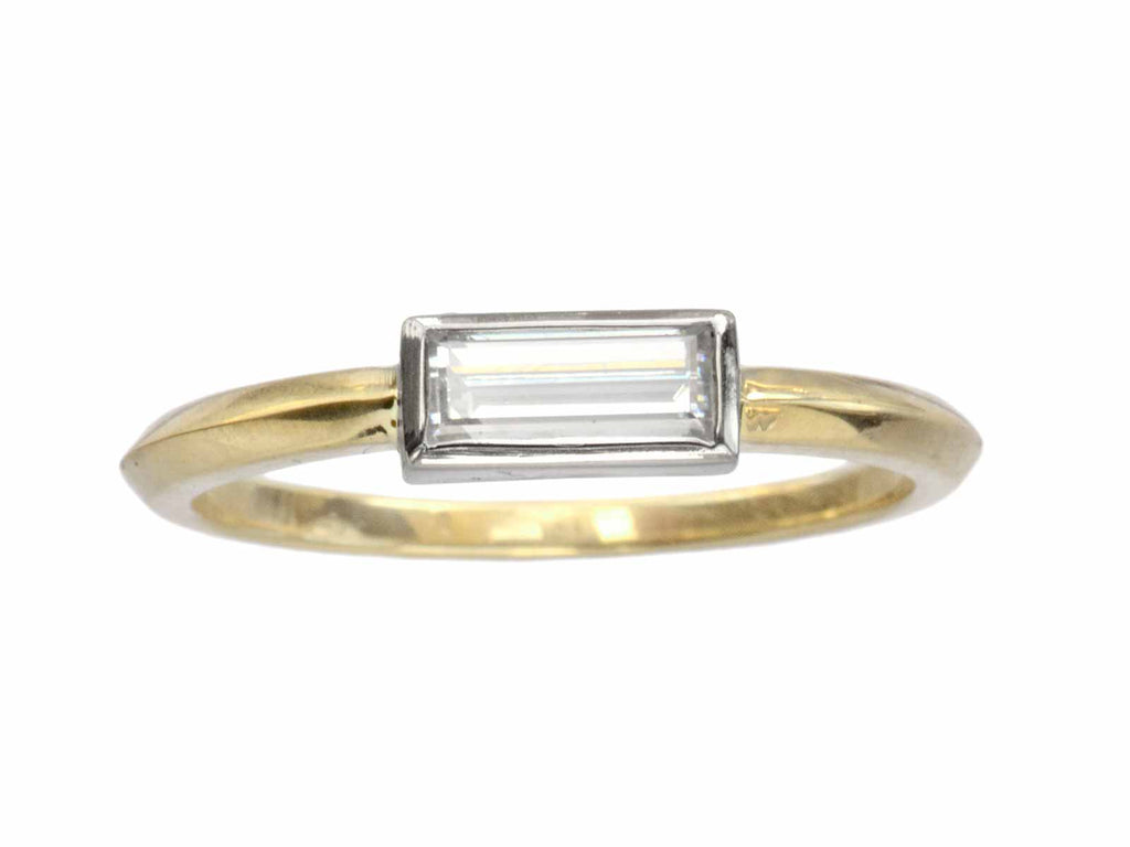 EB 0.43ct Rectangular Diamond Ring
