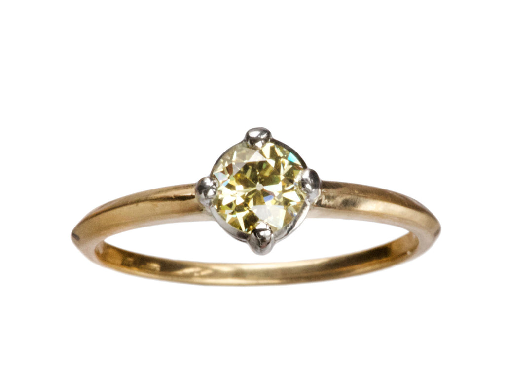 EB 0.43ct Yellow Diamond Ring