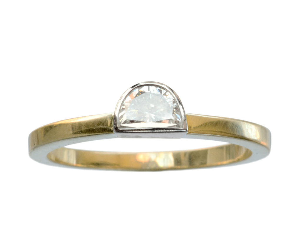 EB 0.45ct Half Moon Ring