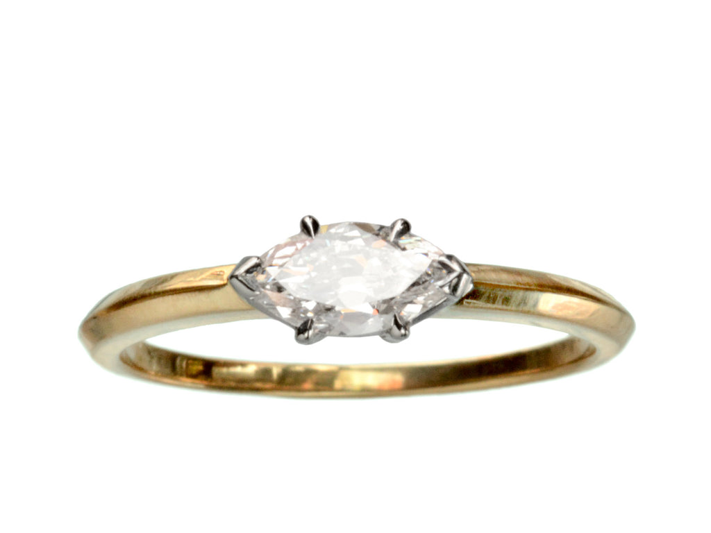 EB 0.46ct East-West Marquise Cut Diamond Engagement Ring