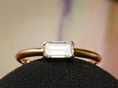 EB East-West 0.48ct Emerald Cut Diamond Engagement Ring