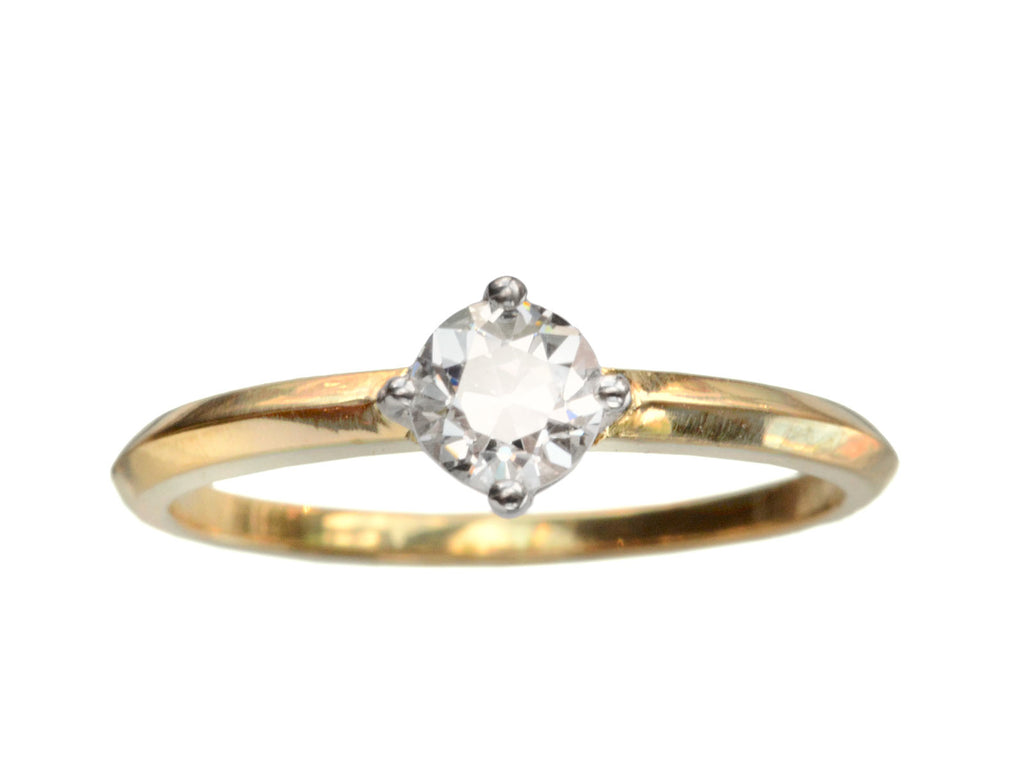 EB 0.49ct Old European Cut Diamond Solitaire Engagement Ring