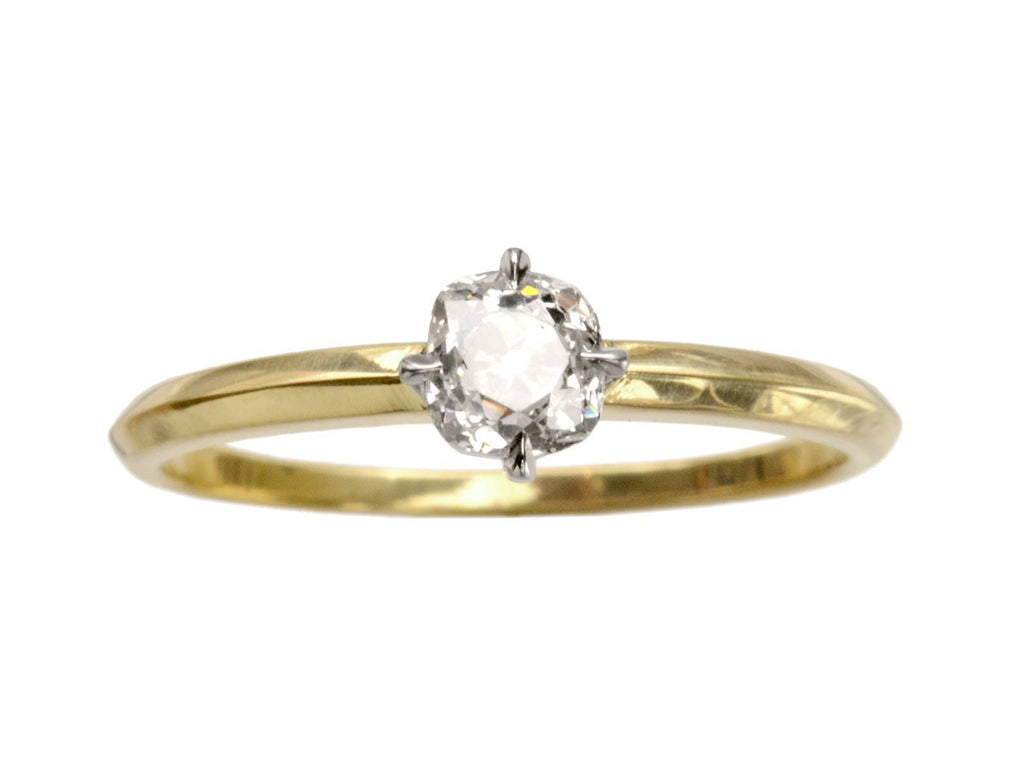 EB 0.49ct Old Mine Cut Diamond Solitaire Engagement Ring