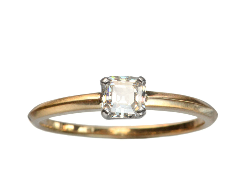 EB 0.50ct Asscher Cut Diamond Engagement Ring