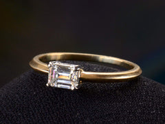 EB East-West 0.51ct Emerald Cut Diamond Engagement Ring