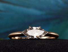 EB East-West 0.51ct Marquise Cut Diamond Engagement Ring