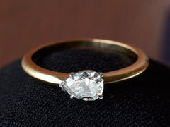 EB 0.51ct Pear Diamond Engagement Ring