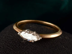 EB 0.53ct Old Cut Marquise Diamond Engagement Ring