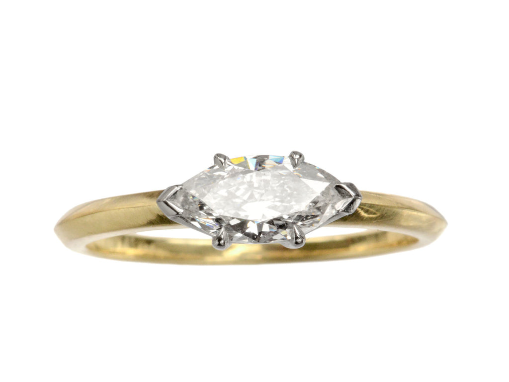 EB East-West 0.55ct Marquise Cut Diamond Engagement Ring