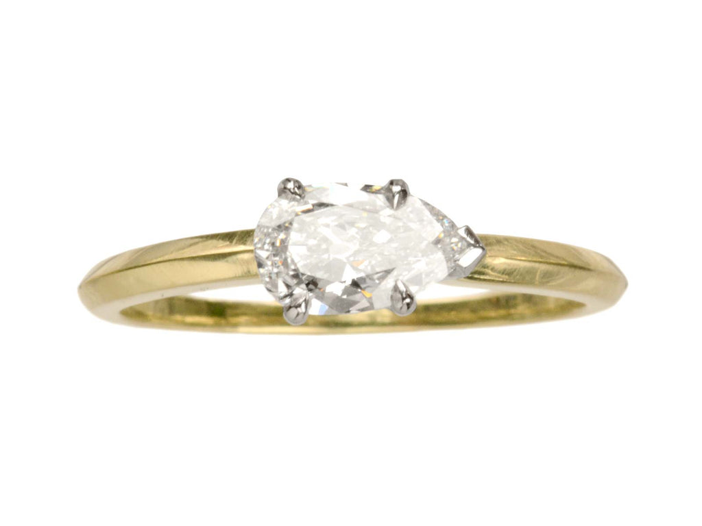 EB 0.55ct Pear Diamond Ring