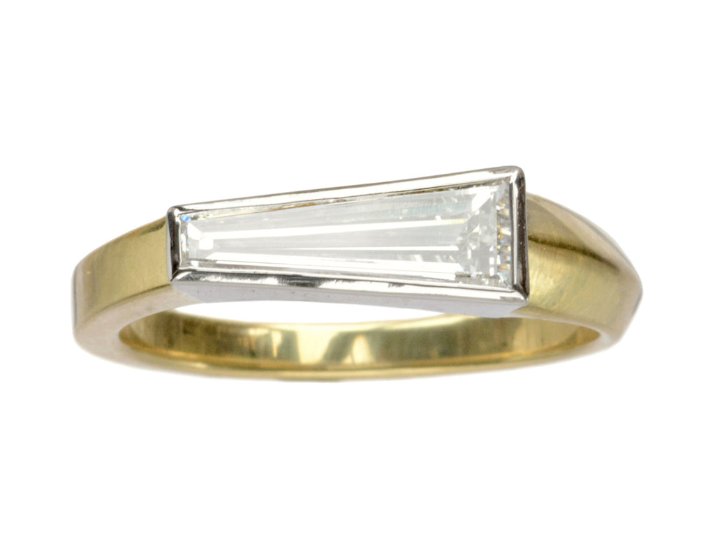 EB 0.63ct Asymmetrical Baguette Ring