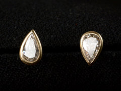 EB 0.64ctw Pear Diamond Studs