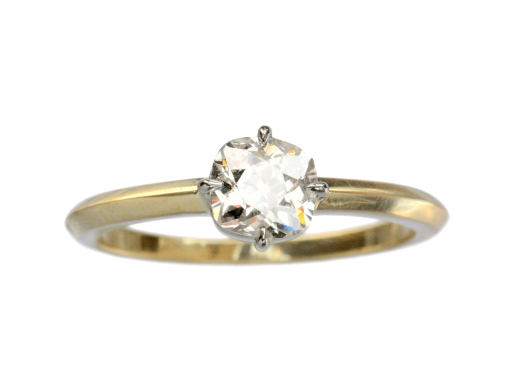 EB 0.66ct Old Mine Cut Diamond Engagement Ring