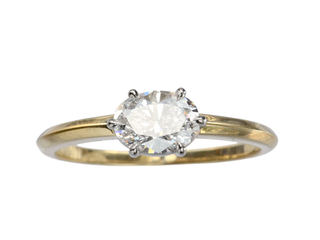 EB East-West 0.66ct Oval Diamond Engagement Ring