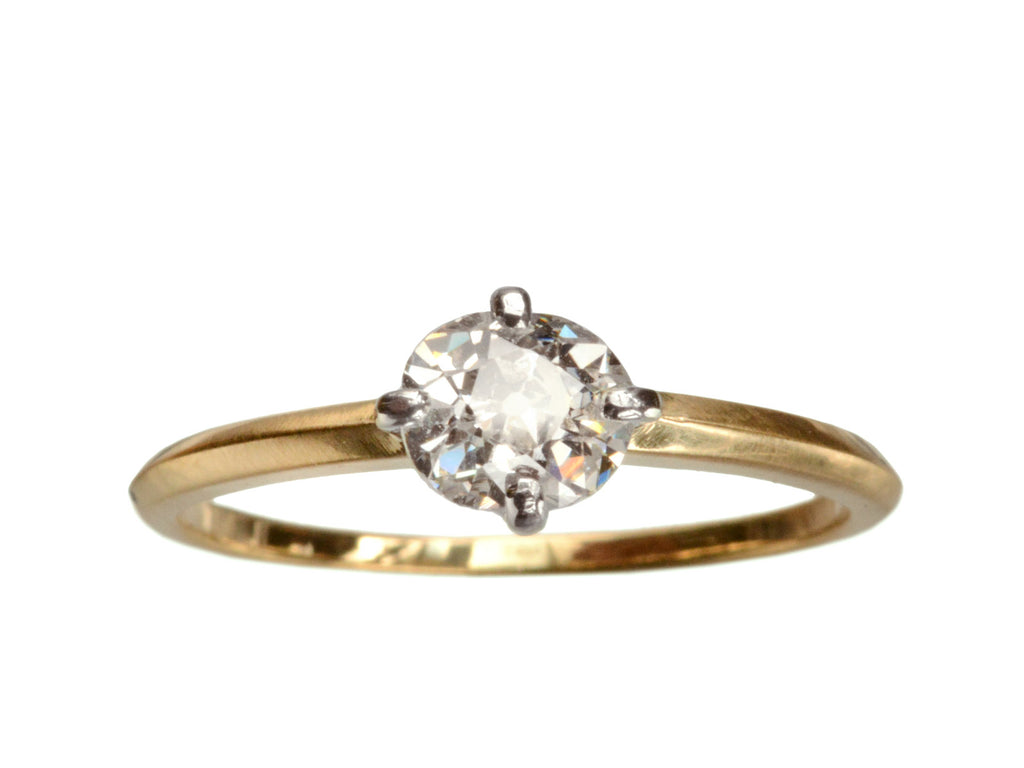 EB 0.67ct Old Mine Cut Diamond Engagement Ring