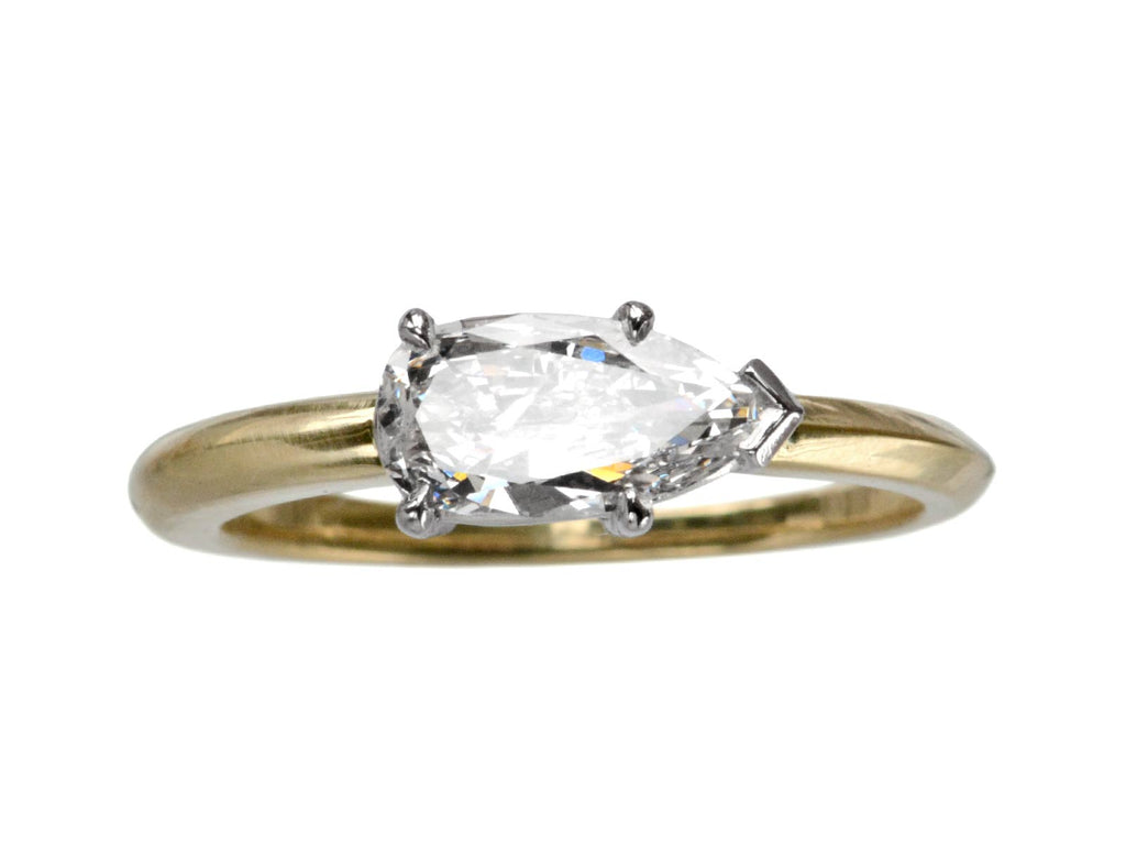 EB 0.69ct Pear Diamond Ring