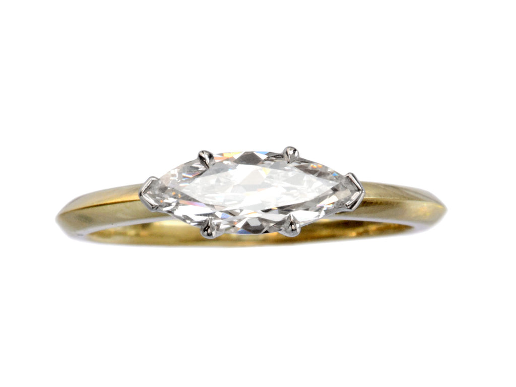 EB East-West 0.70ct Marquise Cut Diamond Engagement Ring