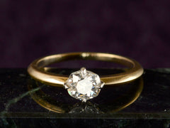 EB 0.70ct Old Mine Cut Diamond Solitaire Engagement Ring