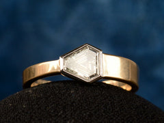 EB Asymmetrical 0.70ct Shield Ring