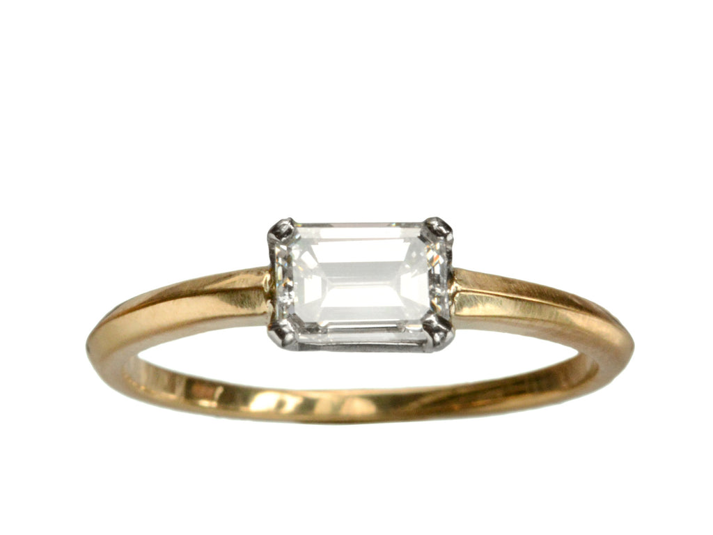 EB 0.71ct Emerald Cut Diamond Engagement Ring