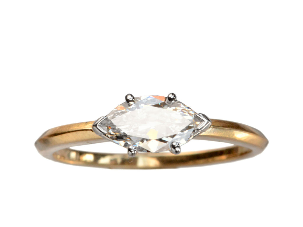 EB 0.71ct East-West Marquise Diamond Ring