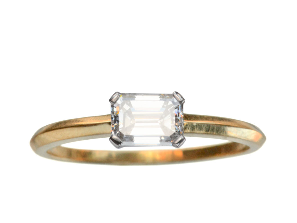EB East-West 0.72ct Emerald Cut Diamond Engagement Ring