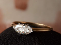 EB 0.75ct Old Cut Marquise Diamond Engagement Ring