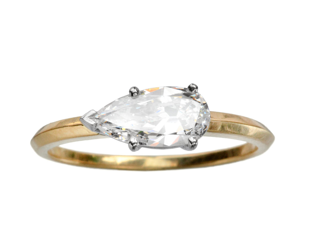 EB 0.75ct Pear Shaped Diamond Engagement Ring