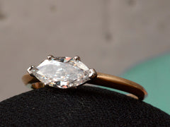 EB East-West 0.79ct Marquise Diamond Engagement Ring