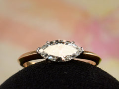 EB East-West 0.79ct Marquise Cut Diamond Engagement Ring